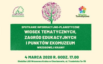 Spotkanie informacyjne wiosek tematycznych we Wrzosowej Krainie