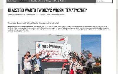 Wywiad na portalu Witryna Wiejska dot. wiosek tematycznych z Krzysztofem Szustką