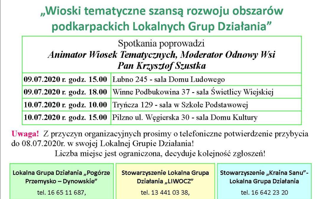 Spotkania informacyjne dot. zakładania wiosek tematycznych w woj. podkarpackim